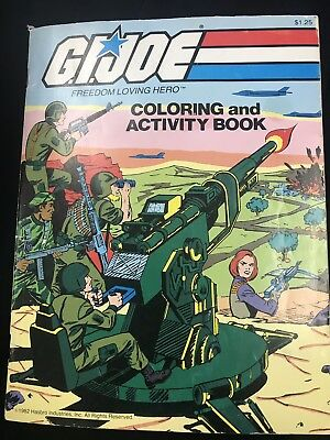 Gi Joe vintage coloring book Lightly Used Most Pages Clean 1982