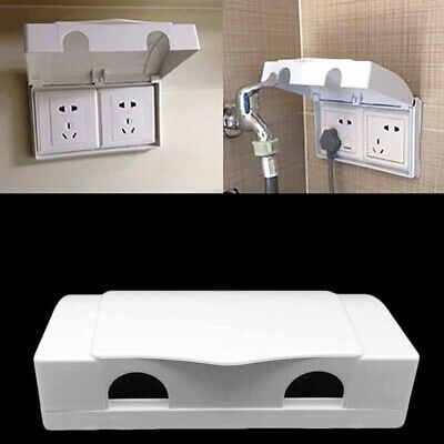 Baby Child Double Socket Protector Electric Plug Flip Up Lid Cover Safety Box