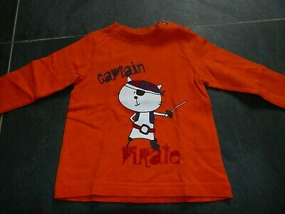 tee-shirt Orchestra orange longues manches 6 mois 68