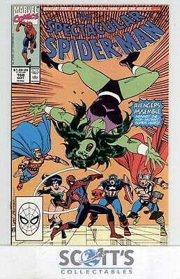 Spectacular Spider-Man  #168  Nm-  (Boarded & Bagged)  Freepost.