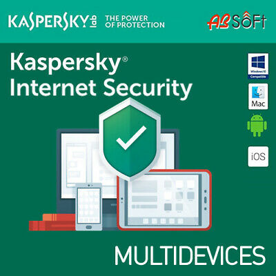 Kaspersky Internet Security 2019 1/ 3/ 5/ 10 Dispositivi 1 o 2  Anni IT