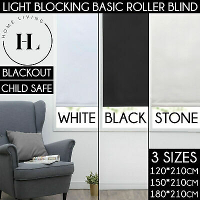SUPERIOR ROLLER BLINDS 100% BLOCKOUT BLACKOUT BLIND Concealed Rails 210cm Length