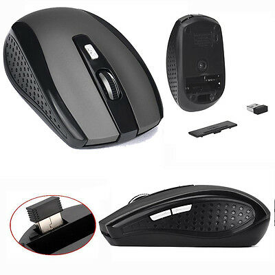 167c60dcebb 2.4GHz USB Dongle Wireless Cordless Optical Scroll Mouse for Computer Free  P&P