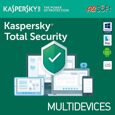 Kaspersky Total Security 2019 1/3/5/10 Dispositivi 1 o 2 Anni  MULTI-DEVICES IT