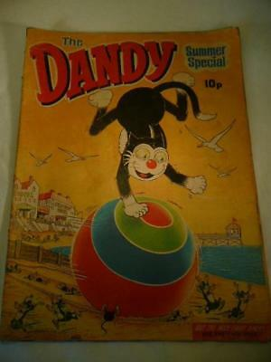 The Dandy Summer Special 1971 Comic With Korky & Desperate Dan Cutout Masks