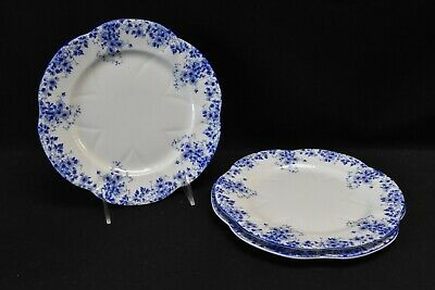 Shelley Dainty Blue Set of 3 Salad Plates England Bone China