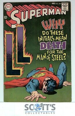 Superman  #204  F/vf   Copy 2  (Boarded & Bagged)