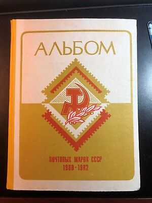 Russia/USSR Illustrated album 1980-82 with full 3 year set MNHOG stamps.