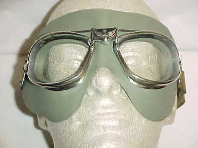 "ORIGINAL, RARE & VG Conditon AAF Type B-6 Flying Goggles w/ ""Wraparound"" Facepad"