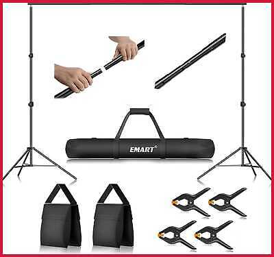 Emart Photo Video Studio 10Ft Adjustable Background Stand Backdrop Support Syste