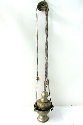 Old Orthodox priesthood incense burner thurible censer silver-plated