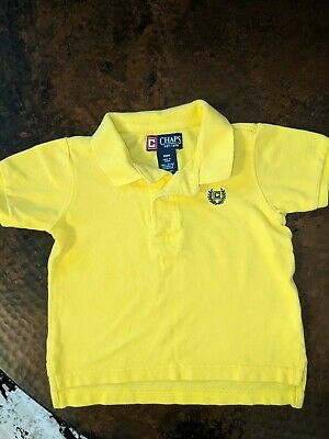 Chaps Polo Shirt Size 18 Month Collar Shirt Yellow