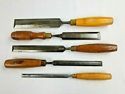 Chisels Set Of 5 Large, Long, Bevel Edge Chisels Uk . 1 1/2 Inch Down To 1/2""