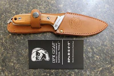 DPx Gear DPHFX001 HEFT 4 Woodsman Fixed Blade Knife & Leather Sheath Italy NEW!