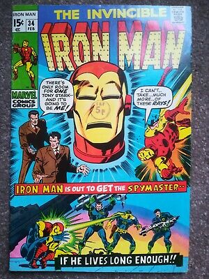 THE INVINCIBLE IRON MAN  #34. FEBRUARY 1971 : Cents copy !