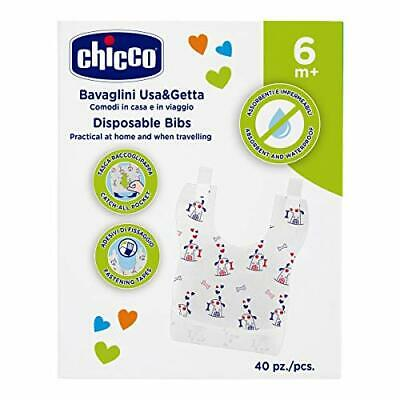 Chicco Easy Meal, Baberos desechables monouso, 40 unidades