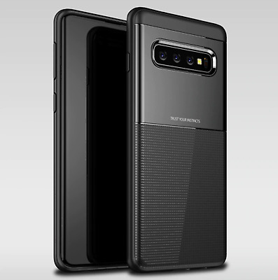 Black Hard Armour Case For Samsung Galaxy S10E Hybrid Shockproof Back Cover