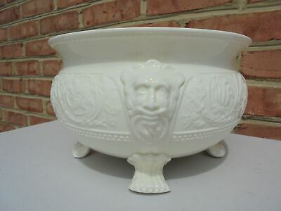 Scarce Old Vintage Wedgwood Patrician Lg Footed Lions Head Centerpiece Bowl
