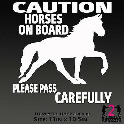 Horse on Board Dressage Jumper Truck 4x4 Trailer Riding Saddle Sticker Decal NEW