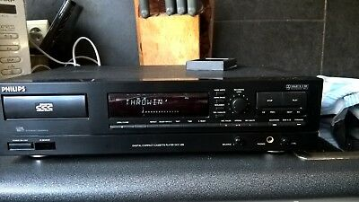PHILIPS DCC 600 machine- tested - top condition  digital recorder with book, cab