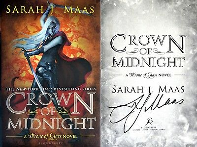 Sarah J Maas~SIGNED~Crown of Midnight~1st Edition HC - Book 2 of Throne of Glass