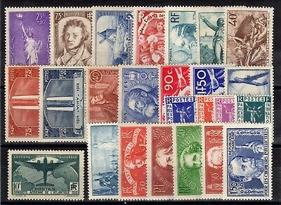 FRANCE: ANNEE 1936 DE 24 TIMBRES NEUF* N°309/333 Cote: 249,50 €