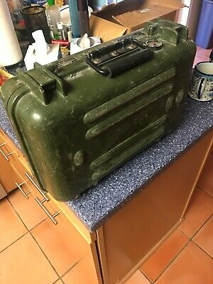US Army Plastic Hard Case Suitcase For Equipment. Padded Inside, Breather Valve