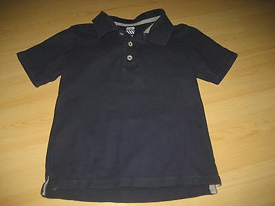 Boys 4T Navy Blue OLD NAVY POLO SHIRT Knit Gray Trim Toddler