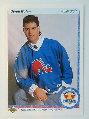 Owen Nolan 1990 1991 Upper Deck UD Rookie RC Card Quebec Nordiques #352 FRENCH