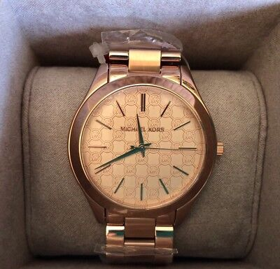 cb361e2ebfe3 MICHAEL KORS SLIM Runway MK3336 Rose Gold Tone With Rose Gold Dial ...