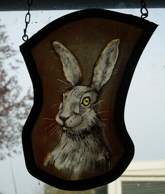 Interesting Stained Glass Bunny Rabbit Easter Hare Medieval Victorian Decorative