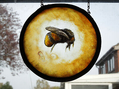 Interesting Stained Glass Honey Bee Nature Medieval Victorian Decorative