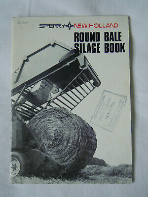 @Vintage Sperry New Holland Round Bale Silage Book@