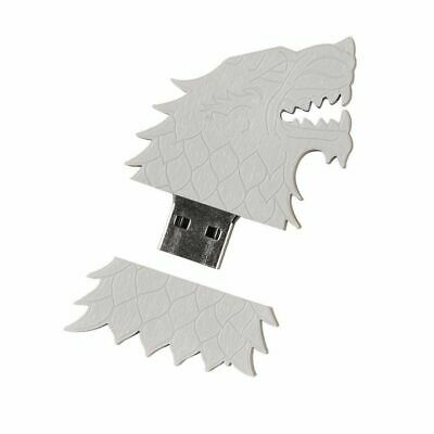 Game of Thrones 4GB USB Flash Drive House Stark Sigil Direwolf HBO Series New