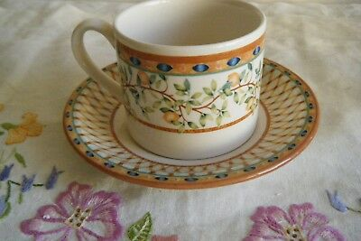 Tesco Johnson Bros Cup And Saucer Lemon Tree Pattern
