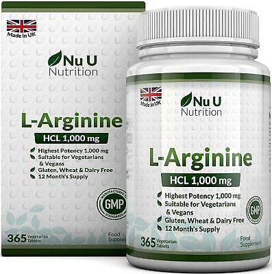 L-Arginine 4000 | 365 Vegetarian and Vegan Tablets | Up to One Year Supply 05/20