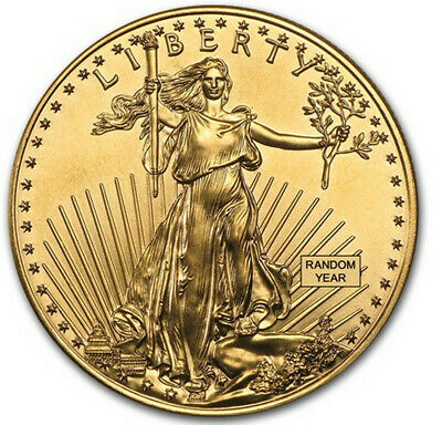 1 oz Gold American Eagle Coin - Random Dates/Years (Our Choice) - Gem BU