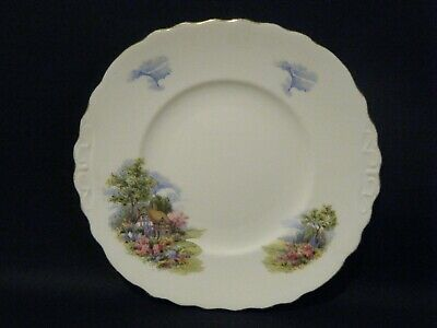 Royal Vale Vintage Country Cottage Garden eared cake sandwich plate