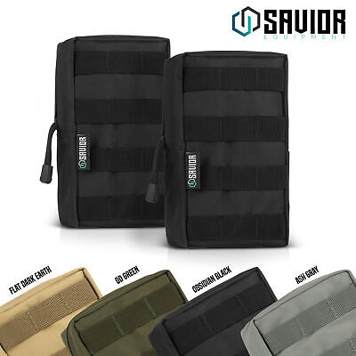 2 x Military Tactical MOLLE Compact Utility Travel Medical Belt Backpack Pouch