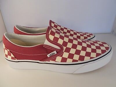 a86e92c5f0b6 VANS Classic Slip-On Dry Rose White Checkerboard Shoes Men s Size 11 New In