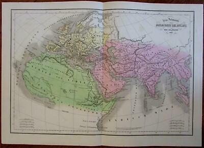 Ancient World Arabia Africa shows Mts. of Moons & Nile source lake c.1855 map