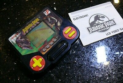 Tiger Jurassic PARK  Vintage LCD Electronic Handheld  Arcade Game  ✨ with BOOK✨