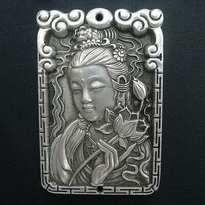 Hand Relief Beauty Natural Ancient Silver Necklace Pendants Jewelry Charm Crafts