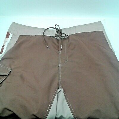 3582f51a1e Reef Mens Brown/White/Khaki Board Shorts Size 38 Adjustable
