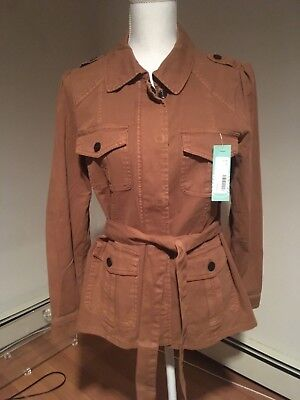 NWTS Sanctuary Women's Belted Cotton Utility Army Style Jacket Outerwear Size M