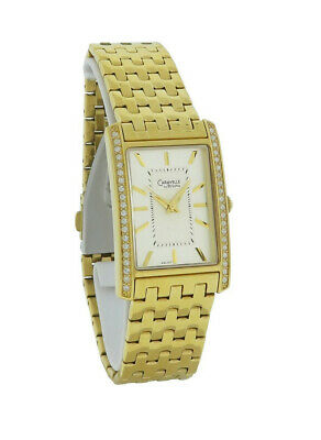 Caravelle by Bulova 44L107 Women's Rectangular Clear Stones Silver Tone Watch