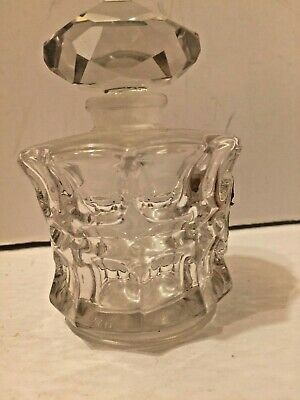 Antique L'elu Marquay French Glass Perfume Bottle