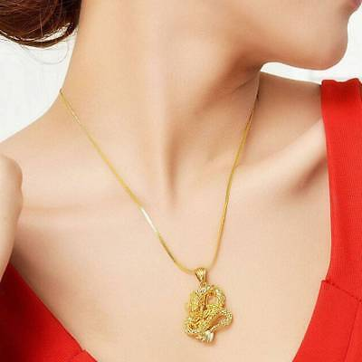Useful Lovely Necklace Chain Gold-Plated Dragon Pendant High-grade Jewlery