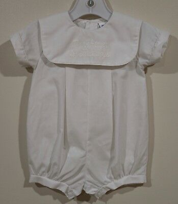 a8efc662f ALEXIS THANK HEAVEN For Little Boys Romper Size 6 Months Embroidered ...