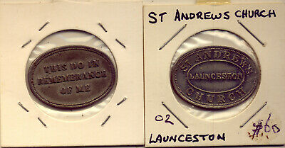 Tasmania: L'ton: Communion Token  - 100 Yrs Old??  Low   Reserve